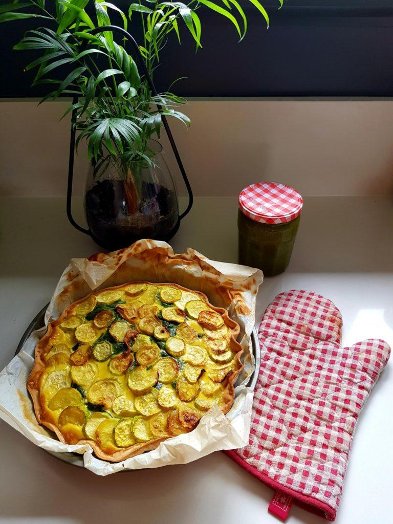 Tarte courgettes épinards, façon lasagnes