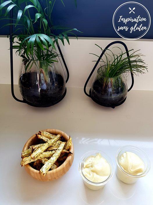 Frites de céleri, ail et fines herbes