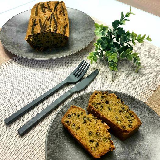 Cake haricots verts et graines de courge.