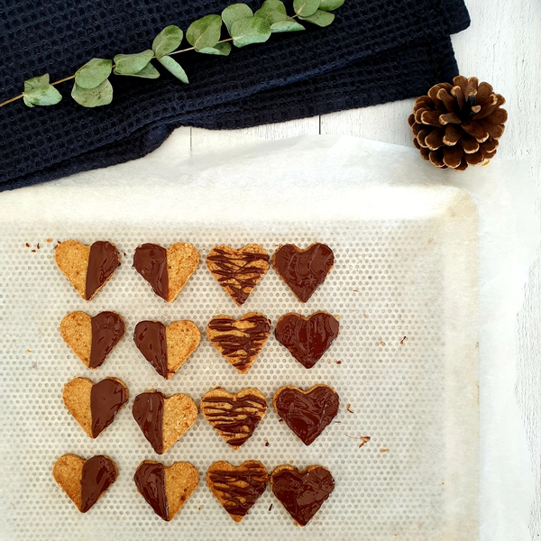 Biscuits de Saint-Valentin orange chocolat