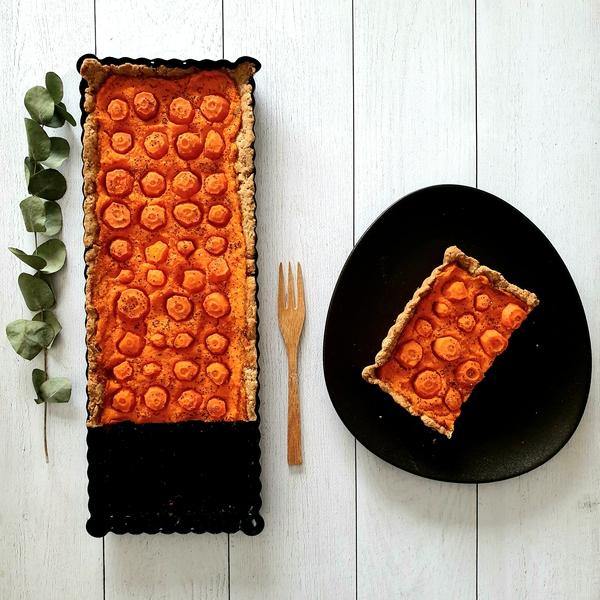 Tarte à la carotte aux notes de noisettes
