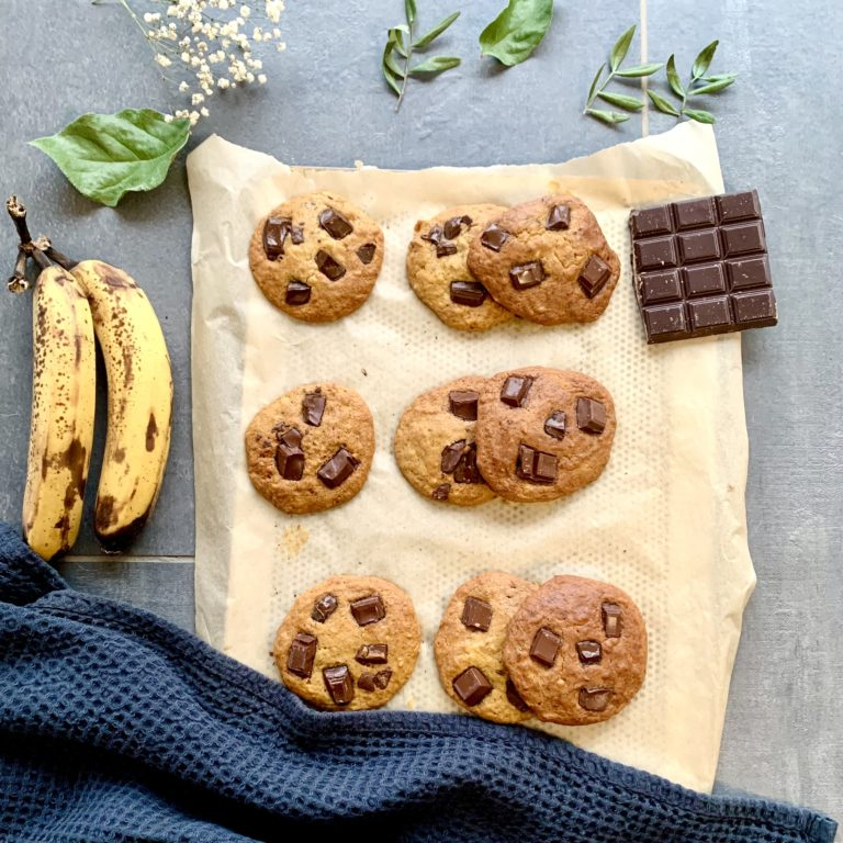 Cookies healthy et moelleux banane chocolat