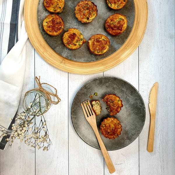 Muffins avoine et petits pois