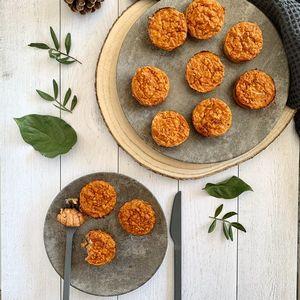Muffins sans gluten thon tomate et avoine