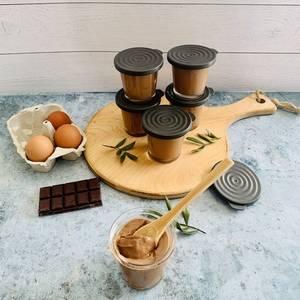 Crèmes aux œufs au chocolat type «la Laitière»