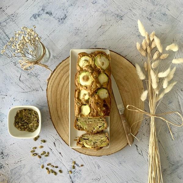 Cake courgettes et graines de courge