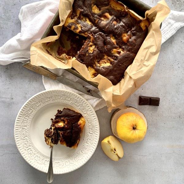 Gâteau marbré pomme chocolat