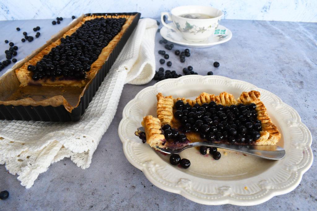 Tarte myrtille et amande sans gluten ni lactose